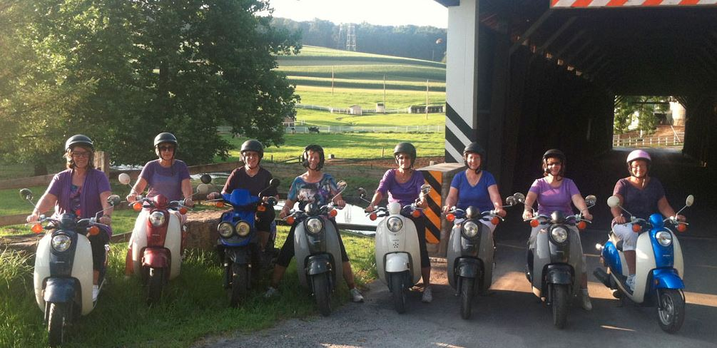 Strasburg Scooters at Speedwell Forge Bed & Breakfast
